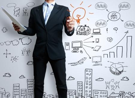 fix: podnikatel se značka psát něco Reklamní fotografie