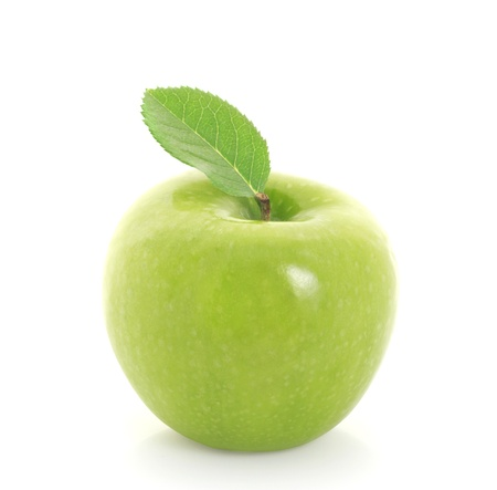 green apple: green apple on white background