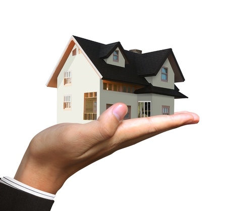 property investment: house in human hands