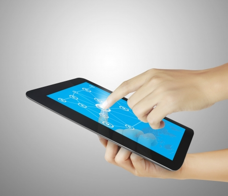 web screen: touch tablet concept  Stock Photo