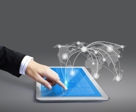 touch tablet concept  photo