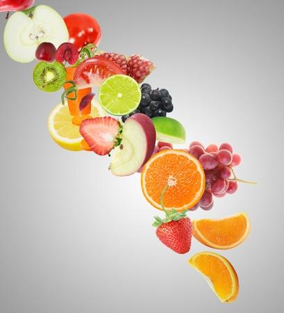 verre de jus: Mixte vitamine jus de fruits