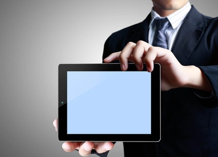 business men touch tablet concept Stock Photo - 13230172