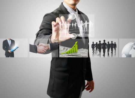 businessmen and Reaching images streaming Stock Photo - 14016919