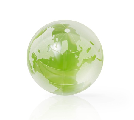 south east asia: Earth Globe on white background Stock Photo