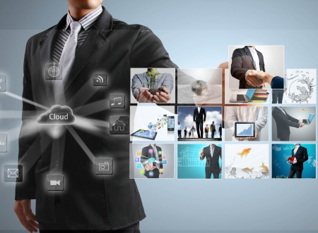 businessmen and Reaching images streaming Stock Photo - 14233916