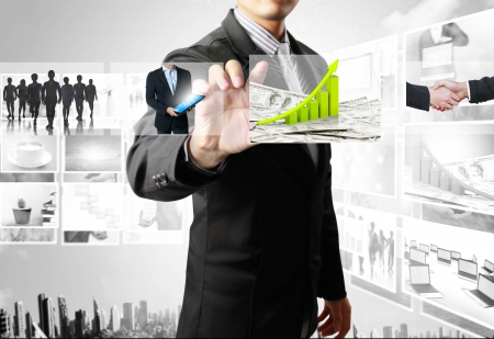 businessmen and Reaching images streaming Stock Photo - 14251250