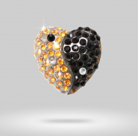 Heart shaped a diamond Yin Yang Stock Photo - 14251253