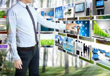 businessmen and Reaching images streaming Stock Photo - 14419238