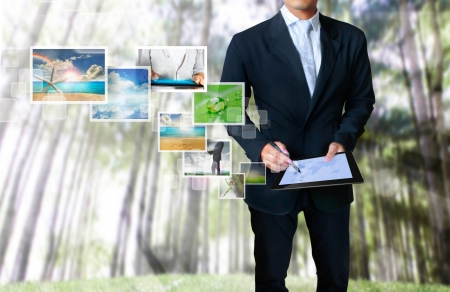 touch tablet concept images streaming Stock Photo - 14419231