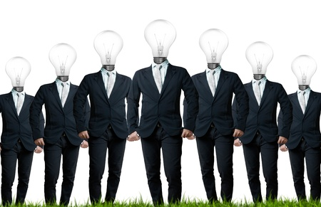 dea concept, lamp head businessman photo