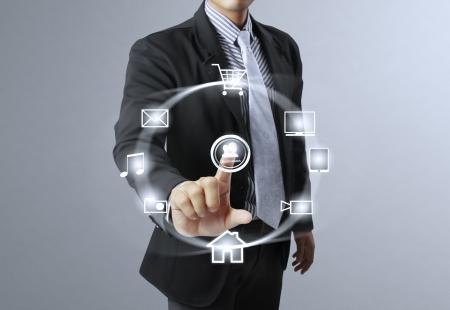 Businessman social network structure  photo