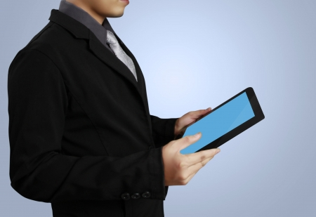 touch screen ,touch- tablet in hand  photo