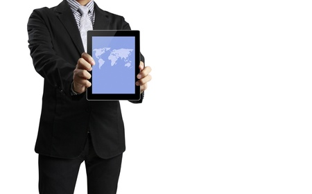touch pad: touch screen ,touch- tablet in hand