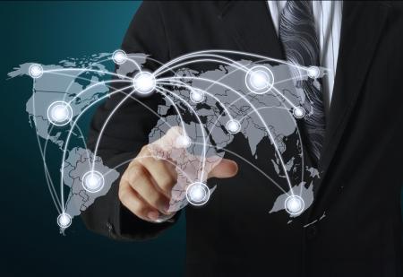 globalization: Businessman social network structure