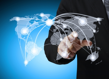 globalization: hand pushing social network structure