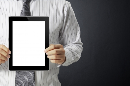 touch screen ,touch- tablet in hands Stock Photo - 17186694