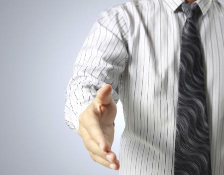 business handshake: business people shaking hands