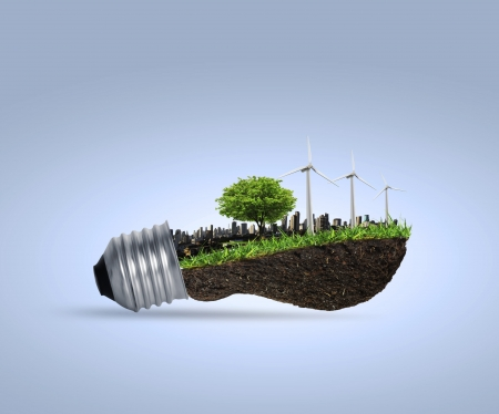 Idea ,light bulb Alternative energy concept  Stock Photo - 17572009