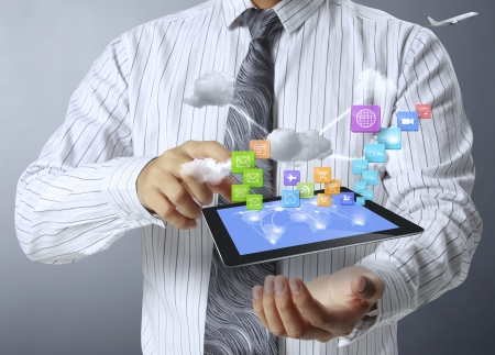 touch screen ,touch- tablet in hands  photo