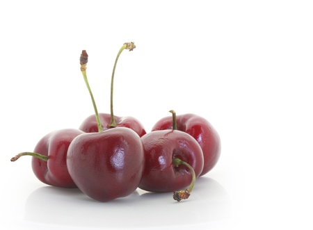 pulpy: Sweet cherry  on a white background