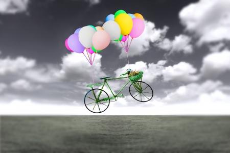 soaring: Ideas balloon bike in the sky