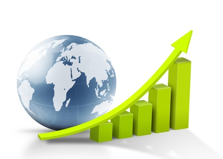 Global success concept and graph  photo