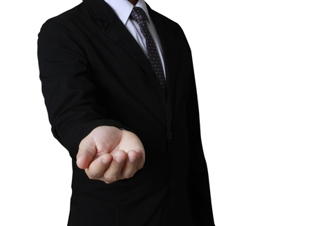 Open palm hand gesture of male hand Stock Photo - 20232203