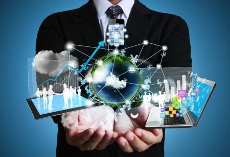Technologie in den H?nden von Unternehmern