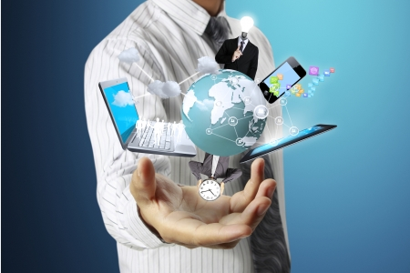 Technology in the hands of businessmen  photo