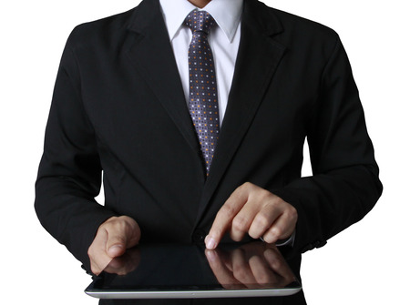 touch screen ,touch- tablet in hands Stock Photo - 23933683