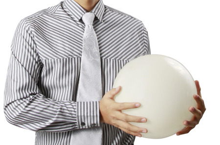 Businessman hand holding the Crystal Ball Stock Photo - 24083368