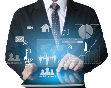Touchscreen-Tablet in der Hand Standard-Bild - 24395478