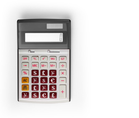 calculator,and the financial charts  photo