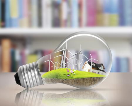 Idea ,light bulb Alternative energy concept Zdjęcie Seryjne - 25871720