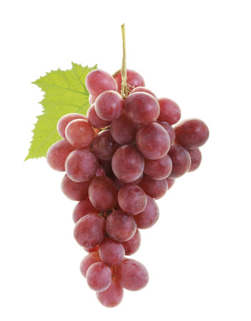 clusters: red grape on white background  Stock Photo