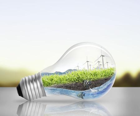 Idea ,light bulb Alternative energy concept Zdjęcie Seryjne - 26374686