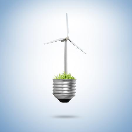 Idea ,light bulb Alternative energy concept