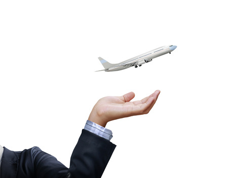 turbulence: Airplane model in a hand