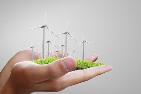 viewfinderchallenge3: Wind turbine in a man hand