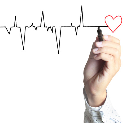 tachycardia: Medicine, the Hand drawing symbol