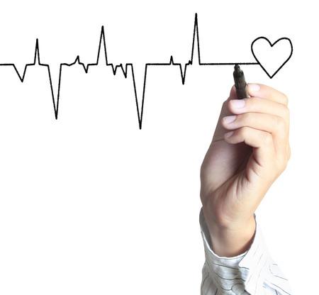 tachycardia: Medicina, el s�mbolo gr�fico de la mano