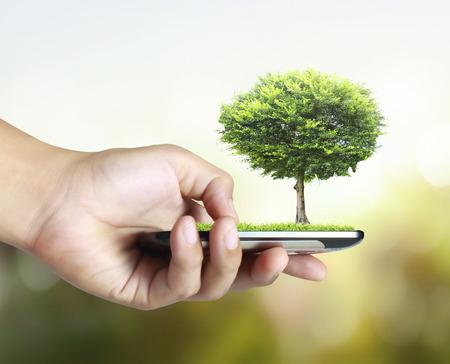 ringtones: Businessman connection touch screen mobile phone