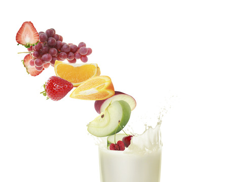 Healthy refreshment sweet and milkshake photo