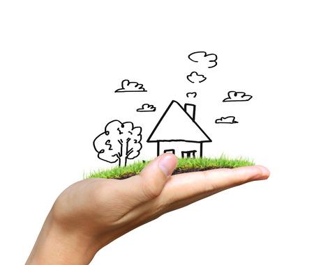 Immobilien Idee, eine Haus Standard-Bild - 33218223