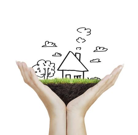 不動産のアイデアは、家を保持して