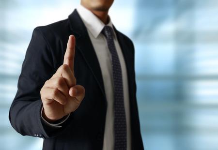 Hand-Symbol nach oben zu berühren