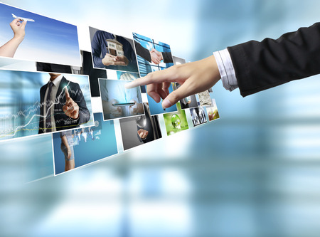 high definition: businessmen and Reaching images streaming, digital photo album