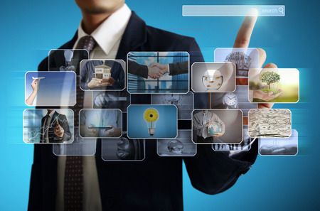 display advertising: businessmen and Reaching images streaming, digital photo album