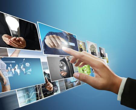 the man preview digital photo, new technology computer Standard-Bild